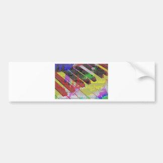 music, piano decor (1) bumper sticker