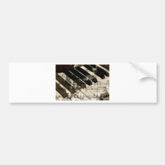 music, piano decor (2).jpg bumper sticker