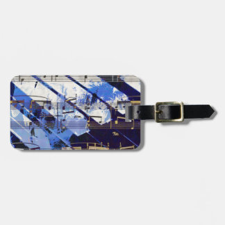 music, piano decor (3) luggage tag