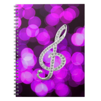Music Piano Gclef Spiral Notebooks