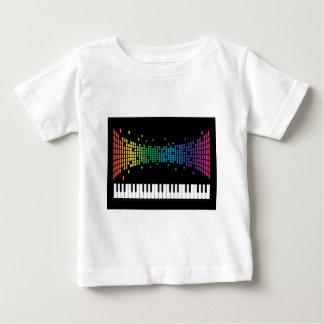 Music piano instrumental keyboard multicolored baby T-Shirt
