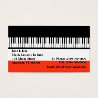 Music Piano Keyboard Keyboards organ Business Card