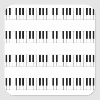 Music: Piano Keyboard Pattern Square Sticker
