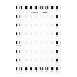 Music: Piano Keyboard Pattern Stationery