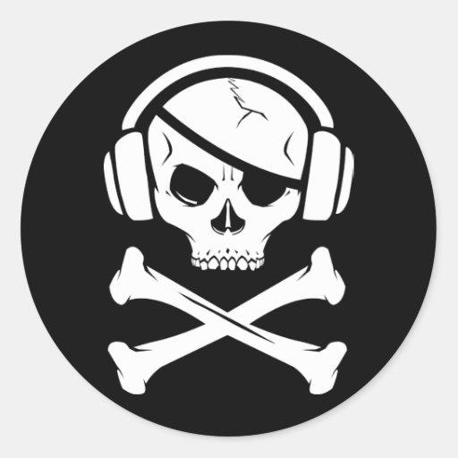 Music Pirate Piracy anti-riaa logo Stickers