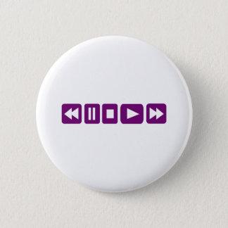 Music Player 6 Cm Round Badge