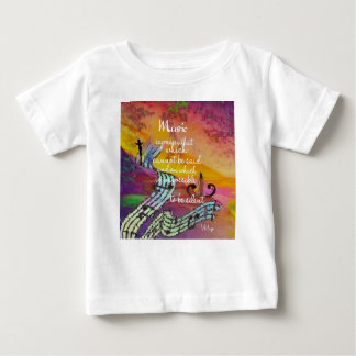 Music possesses a special charm difficult to hide baby T-Shirt