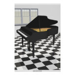 Music Poster: Grand Piano & Tiles: 3D Model