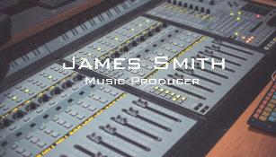 Music producer business cards zazzle au music producer business card colourmoves