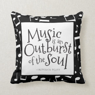 Music Quote Frederic Delius Throw Pillow Gift