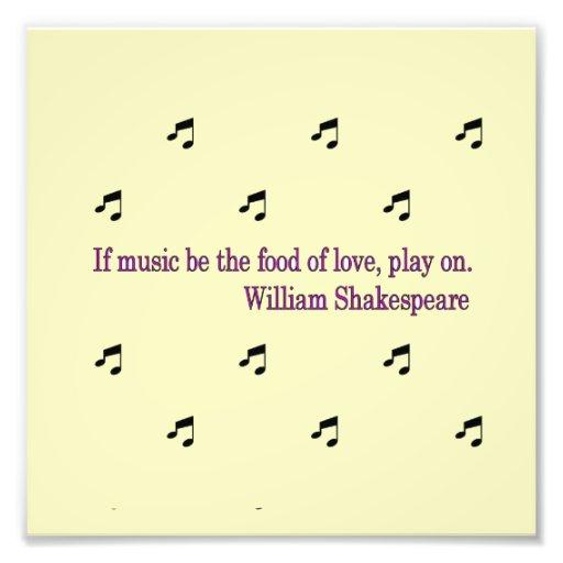 Music Quote Photo Enlargement