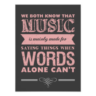 Music Quotes Typography Design Poster Music Speaks