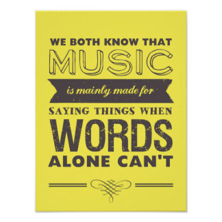 Music Quotes Typography Poster Music Speaks