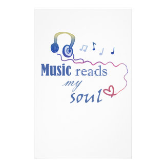 Music READS my soul Custom Stationery