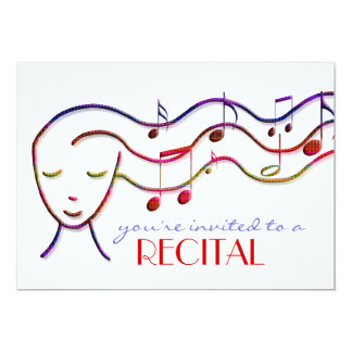 music recital invitation