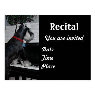 Music recital postcard