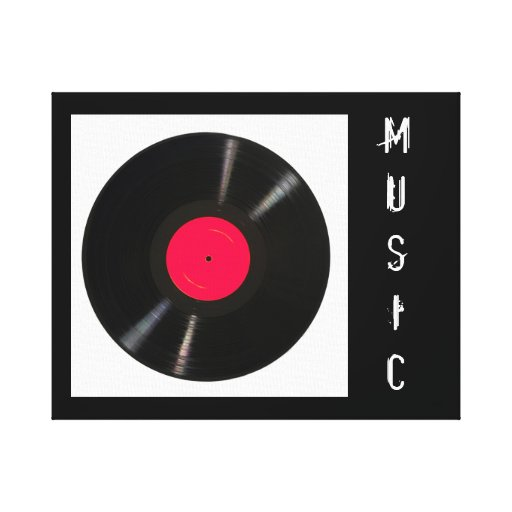 Music Record Gallery Wrapped Canvas