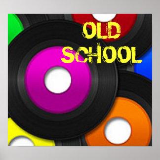 "Music Record ""Old School"" Print"