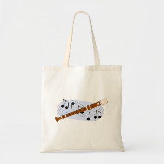 Music Recorder Instrument Budget Tote Bag