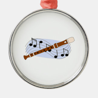 Music Recorder Instrument Metal Ornament