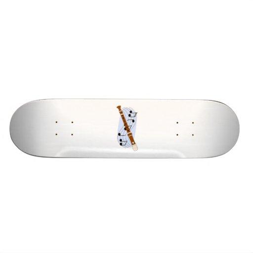 Music Recorder Instrument Skate Deck