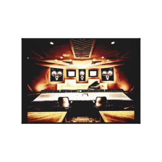 Music Recording Studio Canvas Print