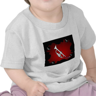 MUSIC RED BACKGROUND PRODUCTS SHIRT