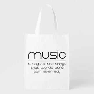 Music Reusable Grocery Bag