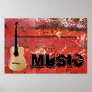 Music rock guitar rock jazz poster