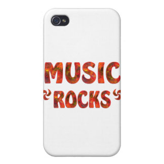 MUSIC ROCKS iPhone 4/4S COVER