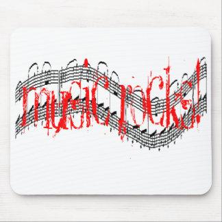 Music Rocks Mouse Pad
