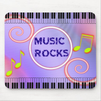 Music Rocks! Mouse Pad