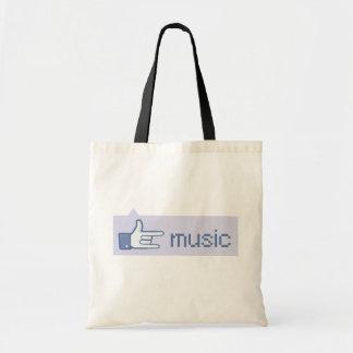 Music Rocks tote bag