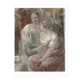 Music Room (fresco) (detail of 60259) Post Cards