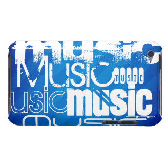 Music; Royal Blue Stripes iPod Case-Mate Cases