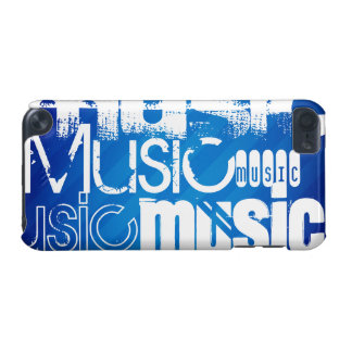 Music; Royal Blue Stripes iPod Touch 5G Cover