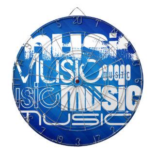 Music; Royal Blue Stripes Dart Board
