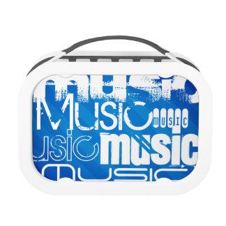 Music; Royal Blue Stripes Yubo Lunch Box