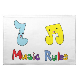 Music Rules Cute Music Notes Placemat