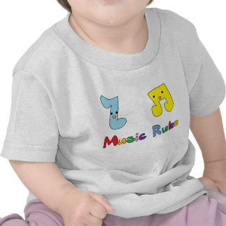 Music Rules Cute Music Notes Shirts