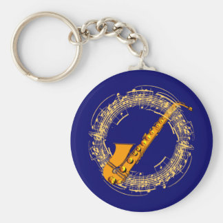 Music saxophone music sax saxophones key ring
