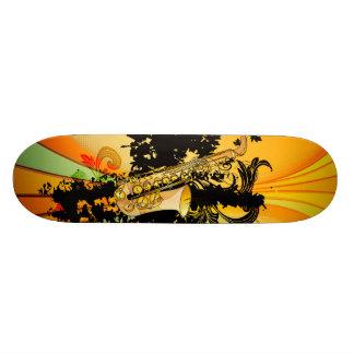 Music, saxophone skate board