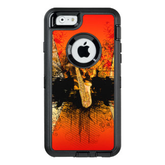 Music, saxophone with grunge OtterBox iPhone 6/6s case
