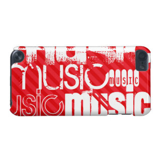 Music; Scarlet Red Stripes iPod Touch 5G Cases