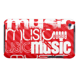 Music; Scarlet Red Stripes iPod Touch Cases
