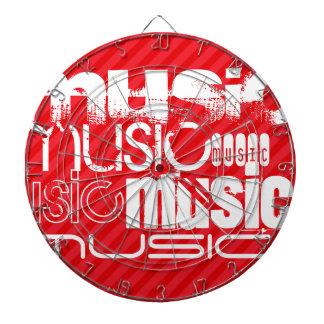 Music; Scarlet Red Stripes Dartboards