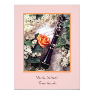 Music School, Graduate 11 Cm X 14 Cm Invitation Card