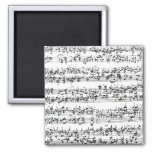 Music Score of Johann Sebastian Bach Fridge Magnets
