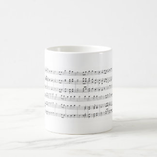 Music Sheet Coffee Mug