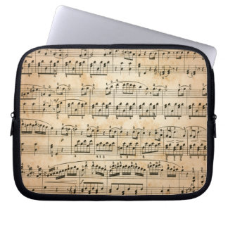 Music sheet laptop computer sleeve